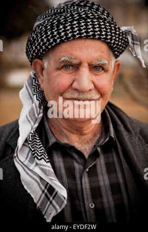 Portrait Of Kurdish Man, Sulaymaniyah, Iraqi Kurdistan, Iraq - Stock Photo