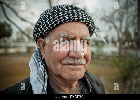 Portrait Of Kurdish Man, Sulaymaniyah, Iraqi Kurdistan, Iraq - Stock Photo
