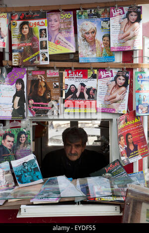 Book Stall In Sulaymaniyah, Iraqi Kurdistan, Iraq - Stock Photo
