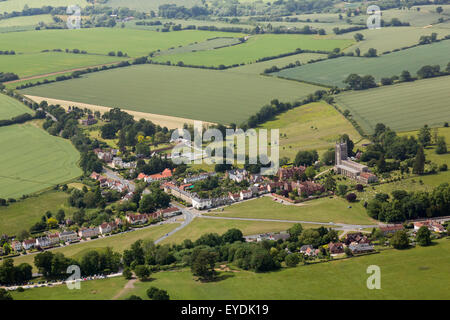 Long Melford village in Suffolk, UK - Stock Photo