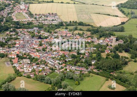 aerial photo of Eye in Suffolk, UK - Stock Photo