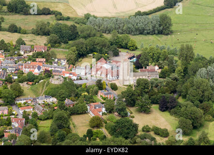 aerial photo of Eye in Suffolk, UK - Stock Photo