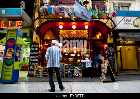 Traditional Restaurant In Calle Florida, Buenos Aires, Argentina - Stock Photo