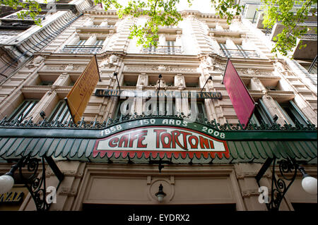 Cafe Tortoni's Facade, The Oldest Cafe In Argentina, San Nicolas, Buenos Aires, Argentina - Stock Photo