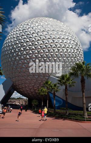 Spaceship Earth, Epcot Center, Walt Disney World Resort, Orlando, Florida, United States of America - Stock Photo