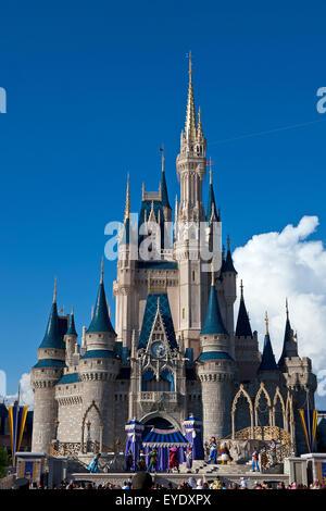 Cinderella Castle, Magic Kingdom, Walt Disney World Resort, Orlando, Florida, United States of America - Stock Photo