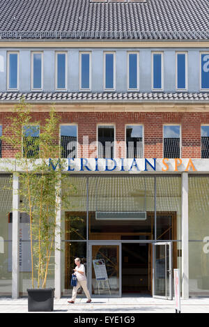 meridian spa in watertower of former hospital barmbek hamburg stockfoto lizenzfreies bild. Black Bedroom Furniture Sets. Home Design Ideas