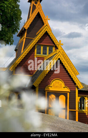 Norway, Sognefjord, English Church or Church of St Olav; Balestrand - Stock Photo