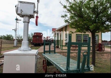 Ropes Railway Depot At The National Ranching Heritage Center, Lubbock, Texas, Usa - Stock Photo
