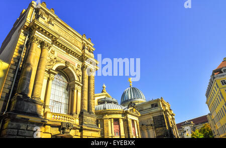 Dresden Germany on a sunny day with blue - Stock Photo