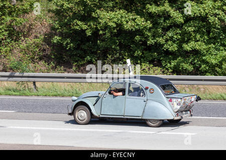 Old Citroen 2CV with boot extension - Stock Photo