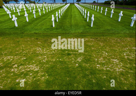 Normandy American Cemetery Memorial , Normandy France - Stock Photo