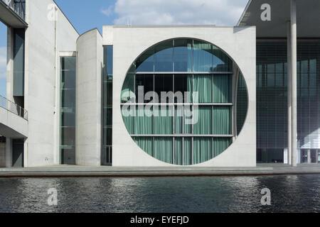 bundeskanzleramt, berlin germany federal building - Stock Photo