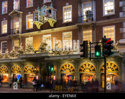 Fortnum and Mason clock; London, England - Stock Photo