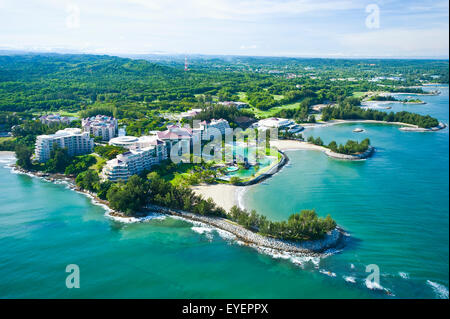 Aerial view of the Empire Hotel and Country Club; Bandar Seri Begawan, Brunei - Stock Photo