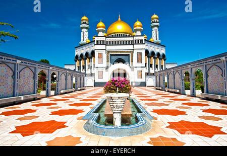 Jame'asr Hassanil Bolkiah Mosque; Bandar Seri Begawan, Brunei - Stock Photo
