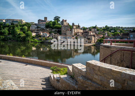 View of the town of Castelmoron-sur-Lot, France - Stock Photo