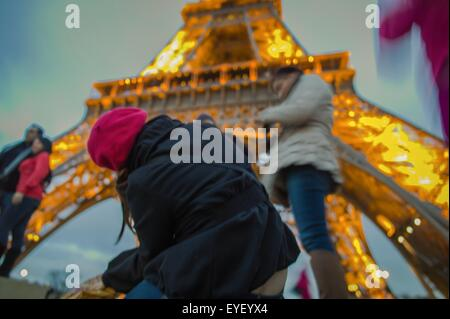 The iron lady of Paris, the Eiffel Tower 22/11/2012 - Sylvain Leser - Stock Photo