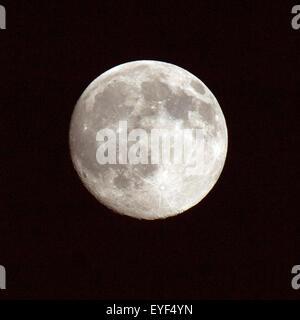 Vollmond; Impression; Gestirn; Erdtrabant; Mond; - Stock Photo