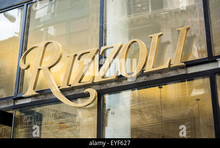 The Rizzoli  bookstore reopens at it new location on Broadway in the NoMad neighborhood of New York on Monday, July - Stock Photo