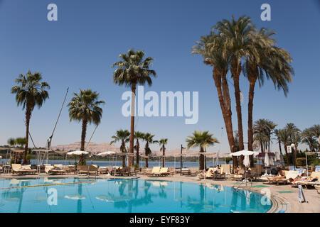 Sheraton Hotel, River Nile; Luxor, Egypt - Stock Photo