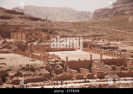 Great temple; Petra, Jordan - Stock Photo