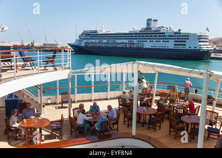 Cruise ship Rotterdam, Salalah Port; Salalah, Dhofar, Oman - Stock Photo