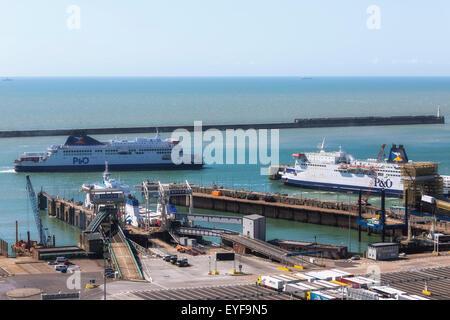 Port of Dover, Dover, Kent, England, United Kingdom - Stock Photo