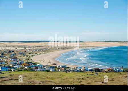 Panoramic view of Cabo Polonio from the lighthouse; Cabo Polonio, Uruguay - Stock Photo