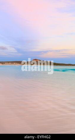 Lucky Bay beach at sunset in Cape Le Grand National Park, near Esperance, Western Australia - Stock Photo