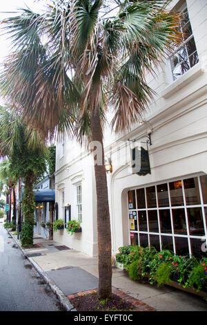Usa, South Carolina, Queen Restaurant Exterior; Charleston - Stock Photo