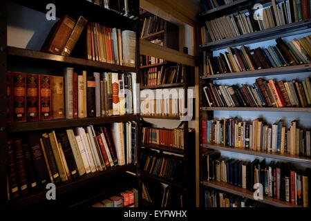 The reading room of the Nobel Prize laureate writer and one of the central figures of modern Hebrew Shmuel Yosef - Stock Photo