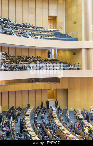 Addis Ababa, Ethiopia. 28th July, 2015. Nelson Mandela Hall of the AU Conference Centre was filled with a large - Stock Photo