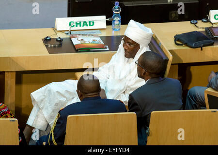 Addis Ababa, Ethiopia. 28th July, 2015. High level delegate of Chad awaits the arrival of President Obama on July - Stock Photo