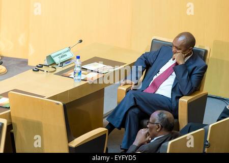 Addis Ababa, Ethiopia. 28th July, 2015. Ato Bereket Semon awaits the arrival of President Obama on July 28, 2015, - Stock Photo