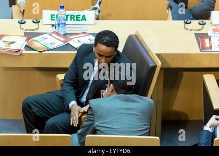 Addis Ababa, Ethiopia. 28th July, 2015. High level delegate of Eritrea awaits the arrival of President Obama on - Stock Photo