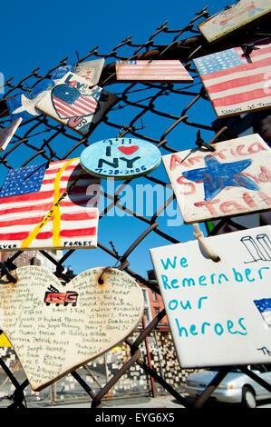 Tiles For America, 9/11 Memorial In West Village, Manhattan, New York, Usa - Stock Photo