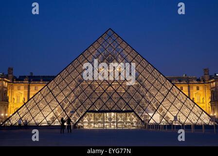 France, Louvre Museum; Paris - Stock Photo