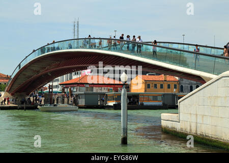 Ponte di Calatrava bridge -  Ponte della Costituzione - Constitution Bridge - Stock Photo