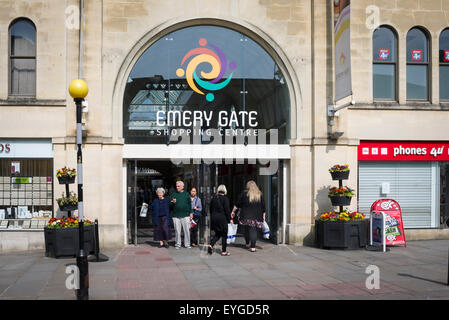 Emery Gate shopping centre entrance in Chippenham Wiltshire UK - Stock Photo