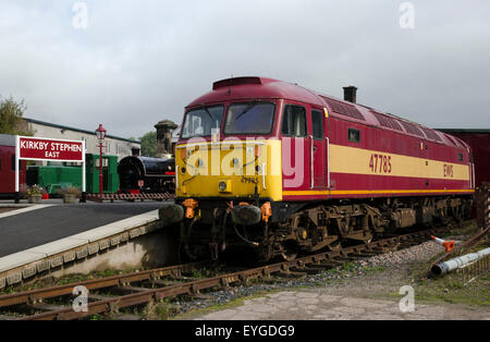 class 47 diesel locomotive 47785 kirkby stephen east station stainmore railway cumbria - Stock Photo
