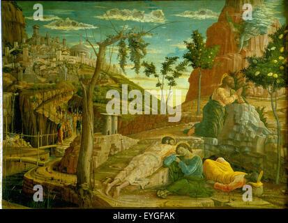 Andrea Mantegna - Agony in the Garden (detail) - WGA13947 Stock ...