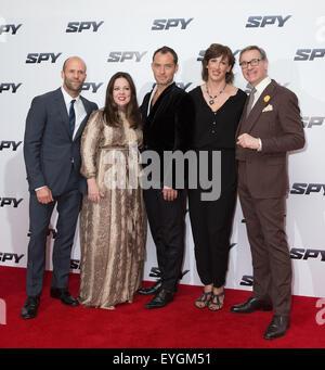 'Spy' U.K. film premiere at the Odeon Leicester Square  Featuring: Jason Statham, Melissa McCarthy, Jude Law, Miranda - Stock Photo