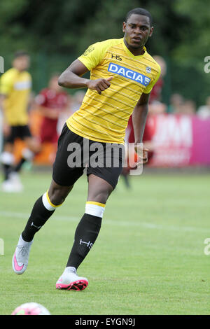 Udine, Italy. 29th July, 2015. Udinese's forward Duvan Zapata racts during the friendly pre-season football match Udinese Calcio v Clodiense on 29th July, 2015 at Bruseschi training center in Udine, Italy. Credit:  Andrea Spinelli/Alamy Live News Stock Photo