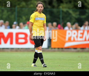 Udine, Italy. 29th July, 2015. Udinese's midfielder Manuel Iturra looks during the friendly pre-season football match Udinese Calcio v Clodiense on 29th July, 2015 at Bruseschi training center in Udine, Italy. Credit:  Andrea Spinelli/Alamy Live News Stock Photo