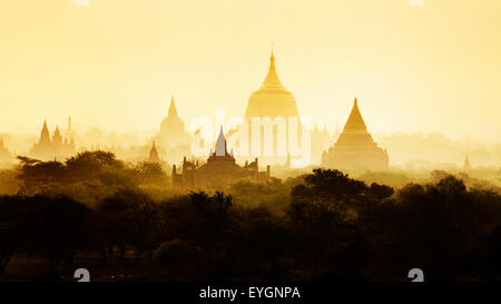 The Temples of Bagan, Pagan, Mandalay, Myanmar. BURMA - Stock Photo