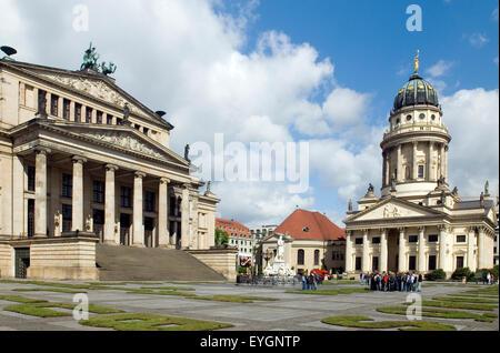 Gendarmenmarkt Cathedral Berlin Germany Europe - Stock Photo