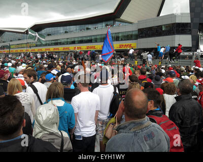 Crowds at Silverstone British Grand Prix F1 - Stock Photo