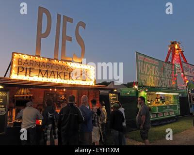 Handmade Artisan Pies on sale at a festival, England, UK - Stock Photo