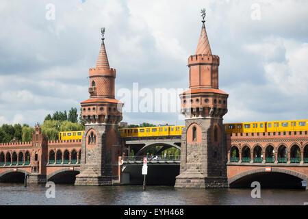 Oberbaumbruecke, Berlin, Germany. - Stock Photo